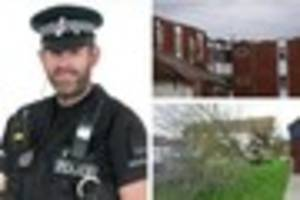 Storm Doris: Essex Police officer patrolling in Pitsea gives...