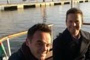 scarlett moffatt seen filming with ant and dec this afternoon in...