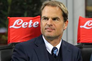Frank de Boer rules himself out of the running for the Leicester City job to take on 'new project' next season