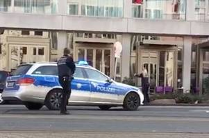 Terrifying footage shows moment Heidelberg police shoot man suspected of deliberately ploughing car into crowd of pedestrians
