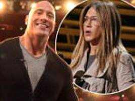 dwayne 'the rock' johnson and others rehearse for oscars