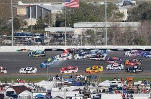 johnson, patrick among 16 cars caught in big one at daytona