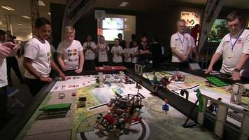 pupils take part in national robotics competition.