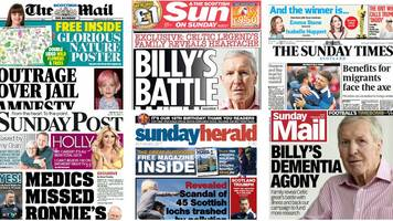 scotland's papers: celtic hero's dementia and polluted lochs