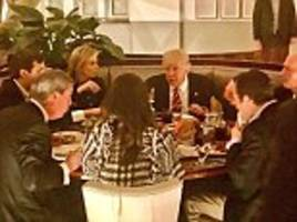 trump has dinner with ivanka, jared and nigel farage