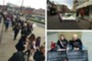 parents urged to join protesting derby school support staff on...