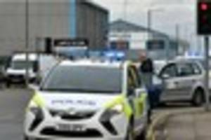 Man detained after armed police stop taxi in Grimsby