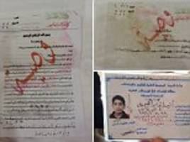 ISIS bomber's final note to parents found in training camp