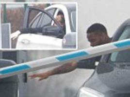 Manchester City stars struggle with faulty parking barrier