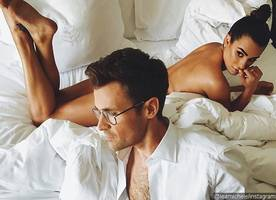 lea michele gets naked in bed with a guy before oscars