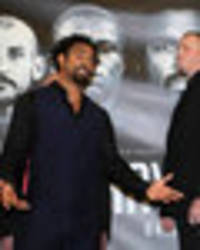 david haye press conference turns nasty: boxer blasts tony bellew fans 'f***ing r***rds'