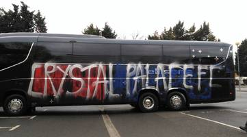 Crystal Palace team coach vandalised before Premier League match