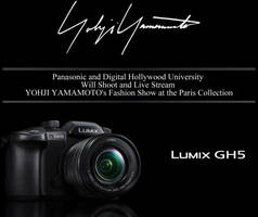 Panasonic and Digital Hollywood University Will Shoot and Live Stream YOHJI YAMAMOTO's Fashion Show at the Paris Collection