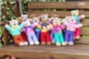 hundreds of teddy bears to be sent to child refugees by bradninch...