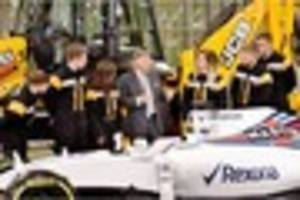jcb joins forces with williams martini racing f1 team for the...
