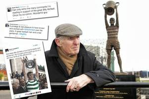 fans and friends of celtic legend billy mcneill flood social media with tributes after brave family reveal dementia diagnosis