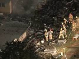 Plane crashes into two homes in Riverside, California