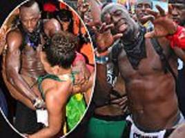 usain bolt parties up a storm at the trinidad carnival