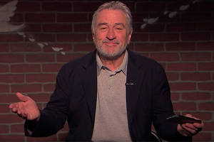 robert de niro reads mean tweets, tells fan to 'eat s— and die' (video)