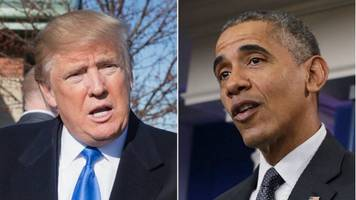 Trump Accuses Obama Of Being Behind Protests, Leaks