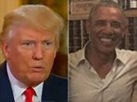 Trump claims Obama is behind White House leaks