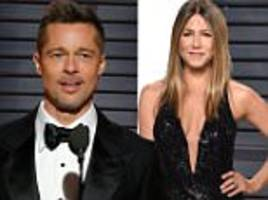 brad pitt has been 'texting ex-wife jennifer aniston'