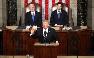"""trump promises """"new chapter of american greatness"""" in speech to congress"""