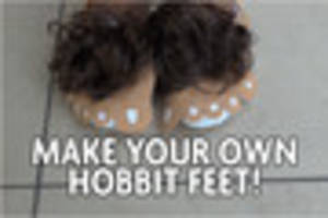 get creative this world book day and make these fun hobbit feet
