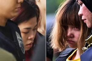 women charged with kim jong-nam murder wear bullet proof vests as they face court for the first time