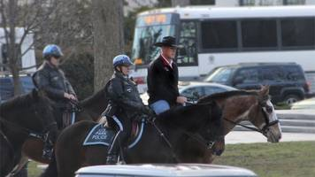 trump cabinet member trots through washington on horseback