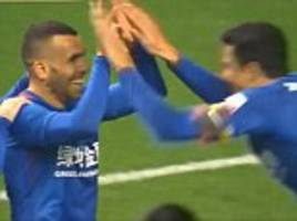 carlos tevez marks csl debut with a goal from the spot