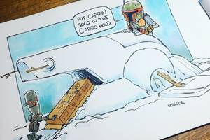 star wars and calvin and hobbes is the perfect combination in these fantastic cartoons