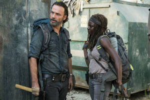 'walking dead': rick and michonne hunt for guns in emotional episode