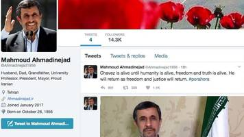 iran's ex-leader joins twitter despite previous ban