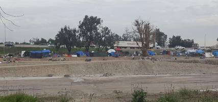 shocking video footage of sprawling california tent city