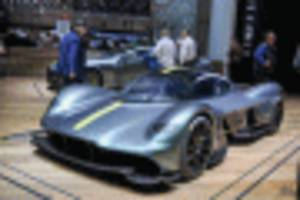 aston martin hypercar named valkyrie, presented in geneva