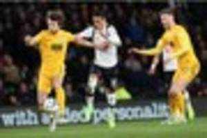 half time report: derby county's best chances come from matej...