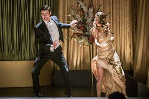 'the flash' / 'supergirl' musical crossover pics feature darren criss and 'legends of tomorrow' star