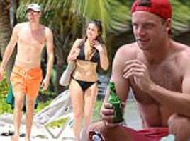 england stars take wags out for caribbean water sports