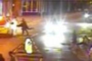 shocking  street attack in taunton caught on cctv - police issue...