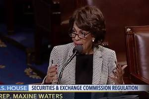 maxine waters thinks president trump should be impeached over golden showers (video)