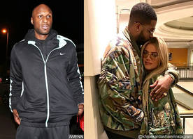 lamar odom and tristan thompson are fighting at khloe kardashian's home