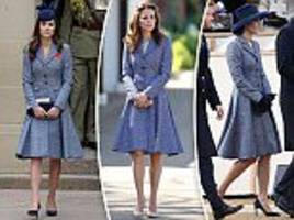 kate middleton recycles michael kors coat for third time