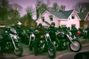 hundreds of bikers attend funeral of valley commandos motorcycle club founder