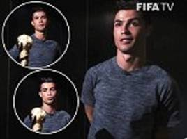 cristiano ronaldo takes a look at the confederations cup