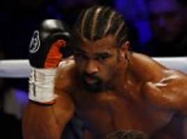 david haye had son cassius ringside for tony bellew fight