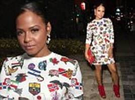 christina milian attends star-studded fashion launch