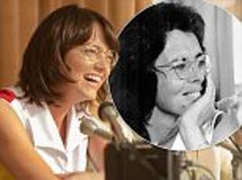 emma stone is unrecognisable as she plays billie jean king