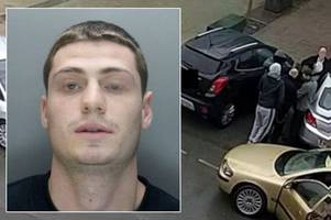 murderer who escaped from prison guards outside hospital seen in cctv image from day he fled