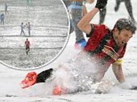 mls sides play out thriller in torrential snow